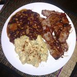 BBQ Brisket - Potato Salad & Texas bean mix
