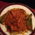 chicken tikka makhani curry & mushroom rice :-)