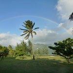 Arcobaleno sui campi da golf