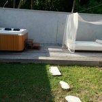 Deluxe beach villa with jacuzzi - open area