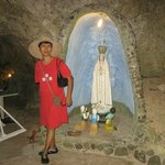 also in the cave, near the entrance, an image of Mama Mary.