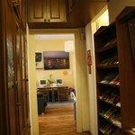 hallway, leaflets
