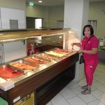 Fresh cooked food, good selection.