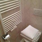 Bathroom with towel dryer!