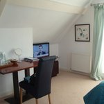 View towards desk/dressing table & flatscreen TV