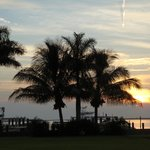 Sunset view from the restaurant Tarpon Lodge