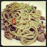 spaghettoni seppie vongole e BOTTARGA.... mmmmmm