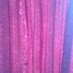 old worn curtains