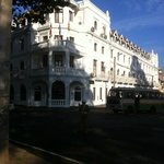 Grand exterior of the Queens Hotel