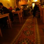 Warm and cosy interior at Meze.