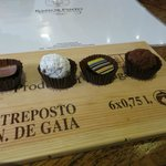 Chocolates from Cohcolataria Equador inside Ramos Pinto