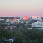 View of Downtown Disney from our room