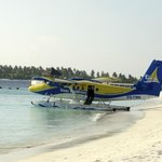 Sea plane at the beach