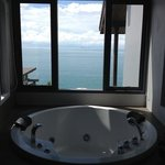 tub with gorgeous view