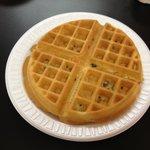 Fresh hot waffle