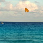 Parasailing near the hotel