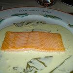 Troisgros' salmon in sorrel sauce