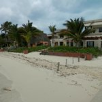 Front of hotel from the beach