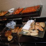a few of the offerings at breakfast in the Executive Lounge