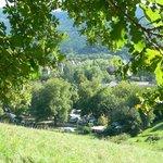 Blick vom Hirzberg auf den Hirzberg Campingplatz