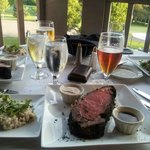 Outside dining, Saturday special Prime Rib.