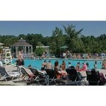 Poolside in one of Medina's Largest Outdoor Pools. Come take a splash then relax at our outdoor