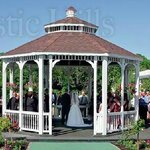 Wedding Ceremony in the Grand Gazebo overlooking Rustic Hills Lake