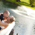 Sharing a Kiss near Hole #3 Fountain (Call for bridal appointment today)