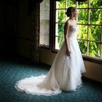Bride Standing in the Rustic Room. (Call for bridal appointment today!)