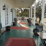 Afternoon on the front porch at Rose Hill Manor
