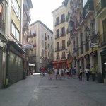 La rue piétonne de l'hôtel