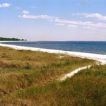 Carrabelle beach on a crowded day - great hordes of sun, sand, sea and sky