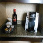 coffee service area - removed two cups and two wine glasses- I had to put ever