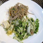 Lunch - Soba noodles, potato and brussel sprouts salad