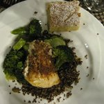 Dinner - Fish with red quinoa and coconut square