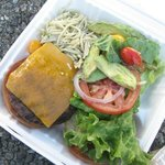 Lunch - burger and salad