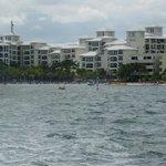 Le site hôtelier vue du ferry Ultramar
