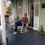 A little Southern porch sitting!