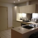 kitchen in room 8... has everything you need for a short bre