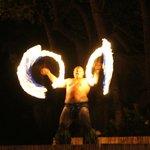 Fire dancers