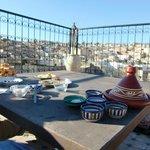 La fantastica terrazza... con la colazione