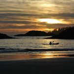 sunset kayaker