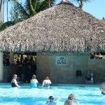 swim up bar by beach