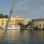 A view of the hotel from the Hydrofoil as we were leaving Ischia