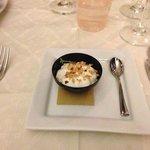 mousse di gorgonzola con granella di nocciole