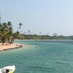 Lomani Island. Looking back from Plantation Island