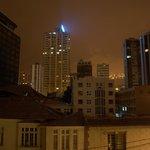 Vista nocturna desde la habitación