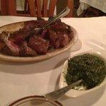 Steak and cream spinach