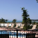 View from the pool & sun loungers