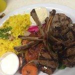 lamb chops w/rice